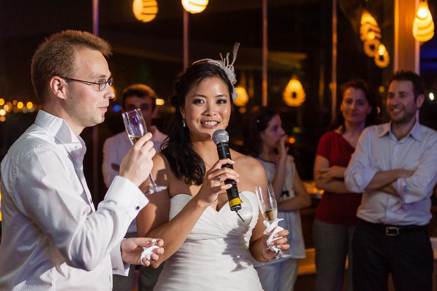 gelin ve damat konuşma yapıyor - sardunya düğün