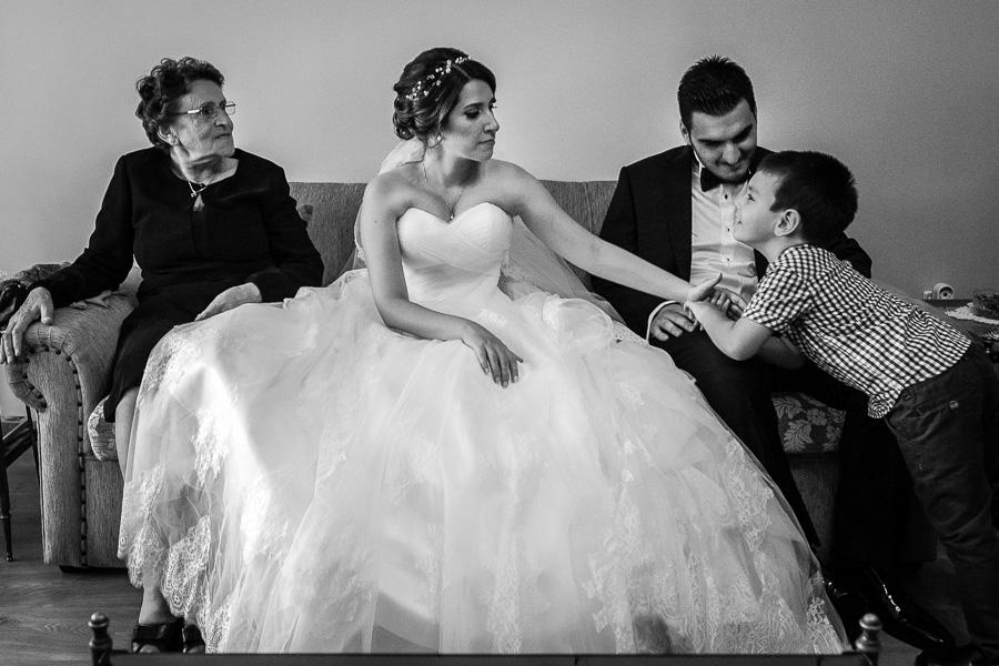 three generations at wedding
