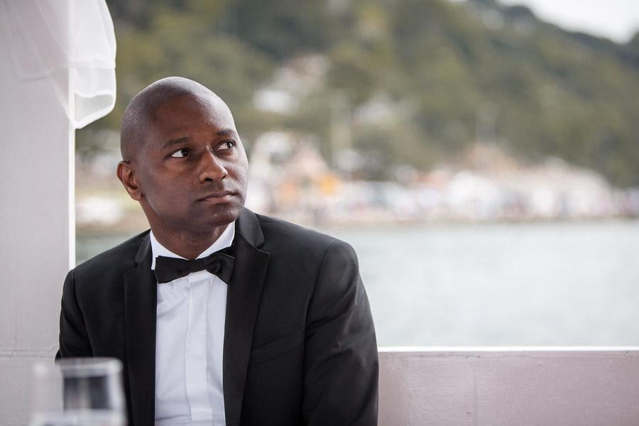 Cubuklu Hayal Kahvesi düğün: damat teknede
