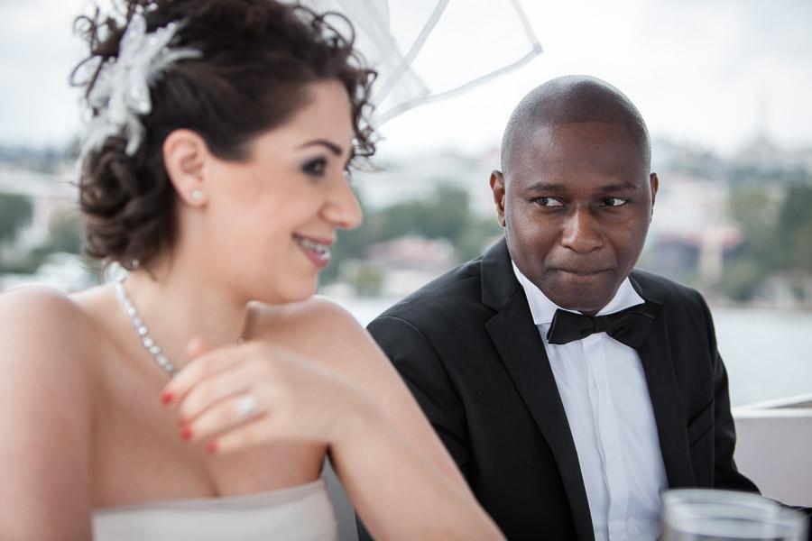 Cubuklu Hayal Kahvesi düğün: çift teknede