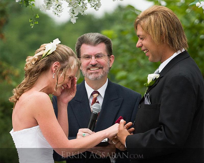 açık hava hristiyan düğünü
