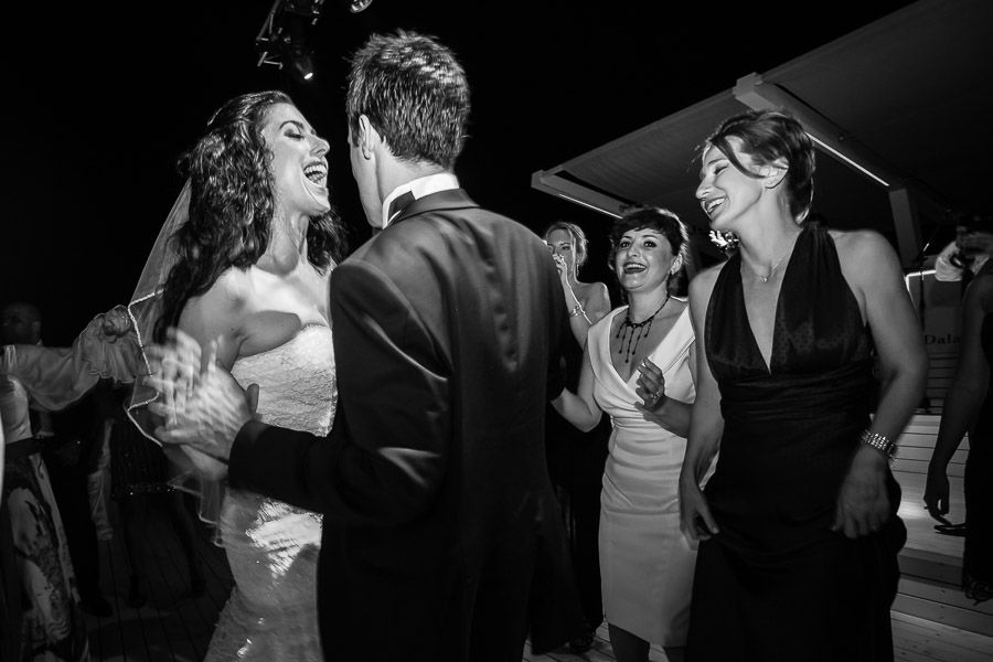 Bride and groom on dance floor