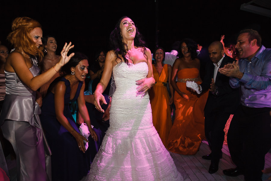 ecstatic bride at destination wedding in Turkey