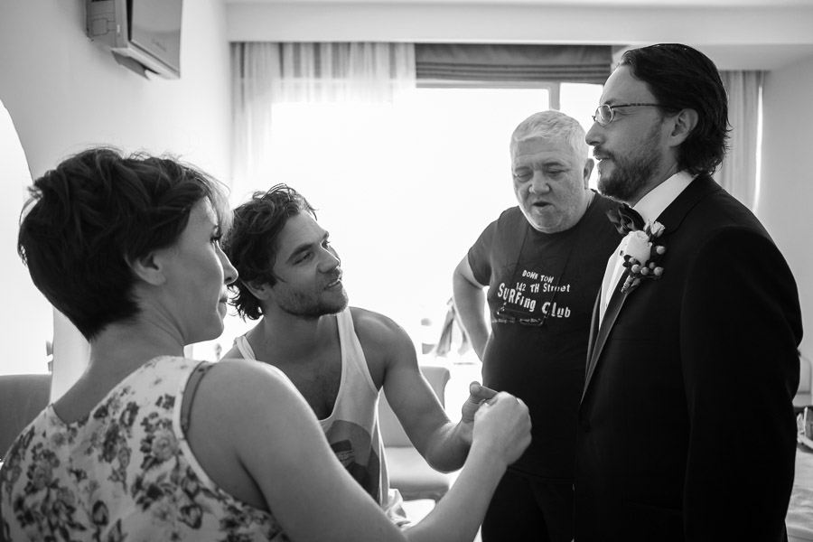 groom getting ready for casa costa Bodrum Wedding