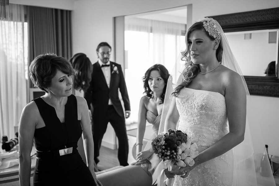 casa costa Bodrum Wedding bride ready