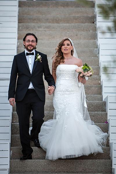 casa costa Bodrum Wedding bride and groom