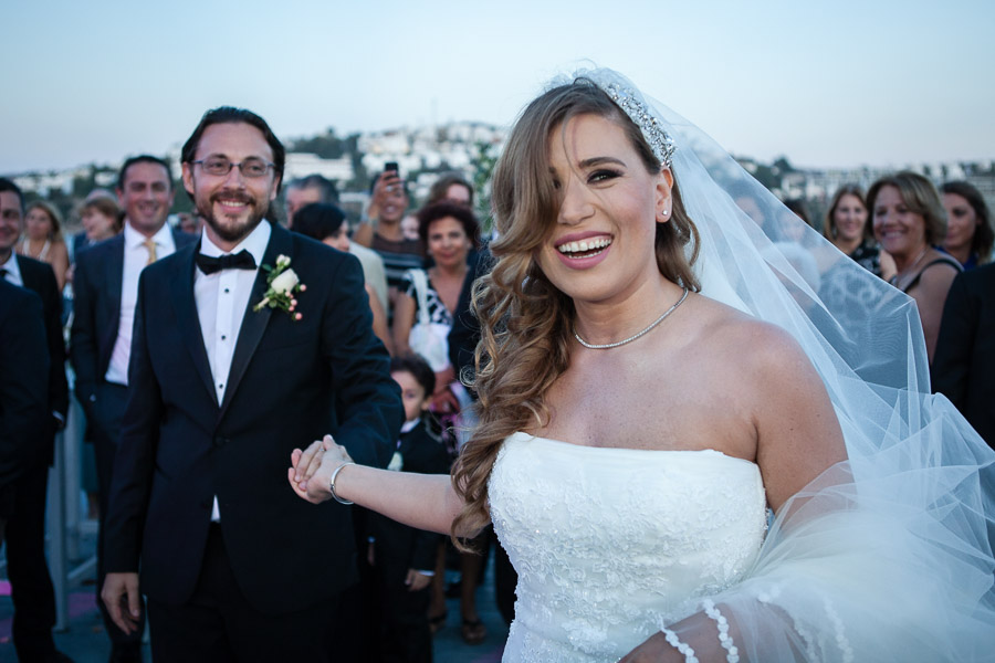 bride and groom after first dance casa costa Bodrum Wedding