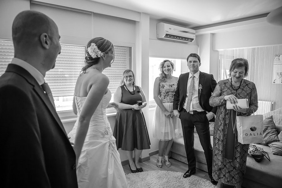 Bride takes the groom to her family