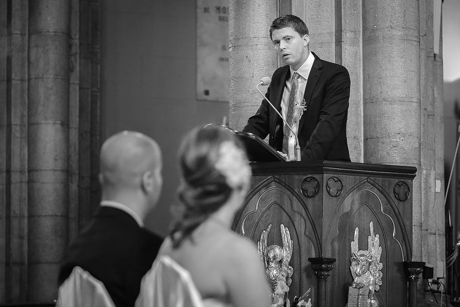 speech during the ceremony at St. Antoine church