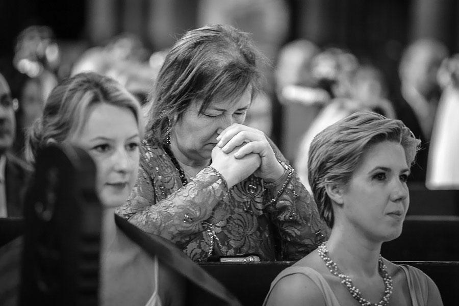 Prayers during church wedding