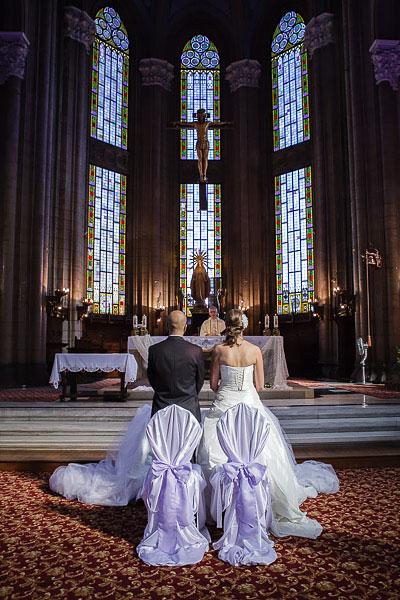 wedding ceremony at Saint antoine church