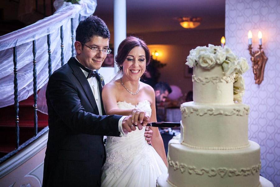 cake cutting at bosphorus palace wedding