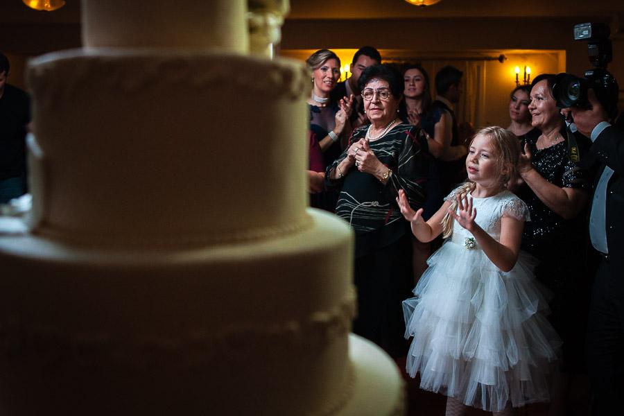 little girl cant wait to have some wedding cake at bosphorus palace hotel wedding