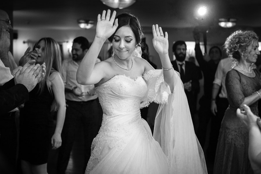 bride on dance floor