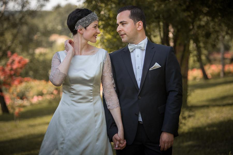 bride and groom at Casa Lavanda wedding