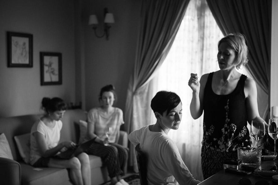 Casa Lavanda wedding makeup