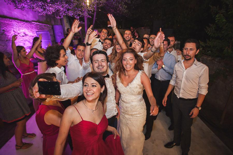 selfie at backyard wedding