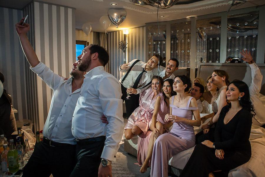 Selfie at Wyndham Grand Kalamis wedding