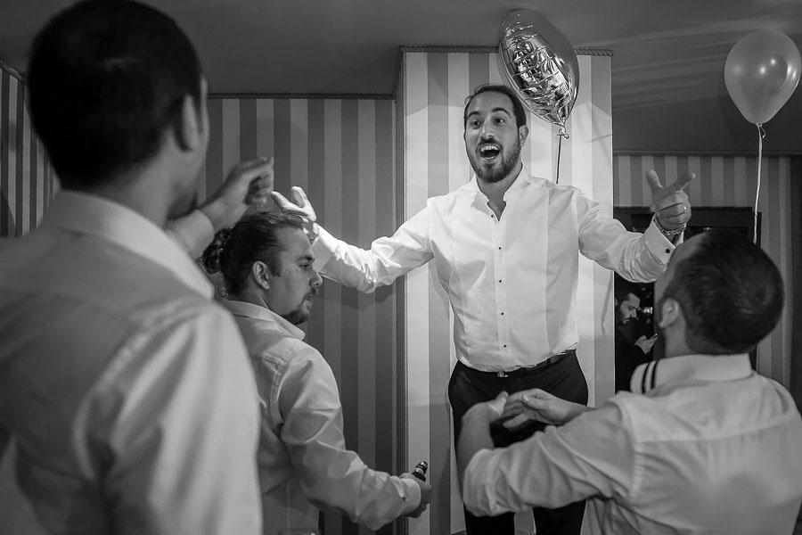 Wedding Party in Wyndham Grand Kalamis Hotel room