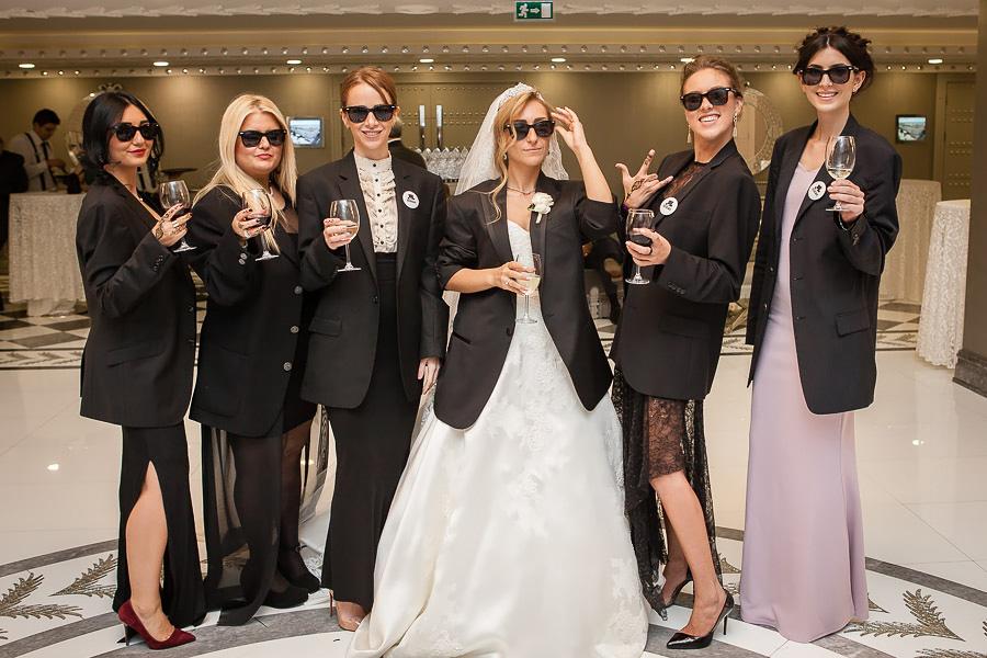Bride and bridesmaid in jackets at Wyndham Grand Kalamis İstanbul