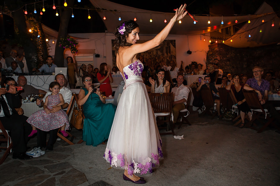Bride-to-be dancing at Giritli engagement party