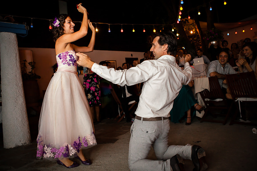 Bride-and-groom-to-be dancing at Giritli engagement party