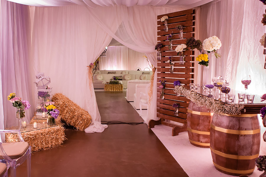 hallway to wedding reception area