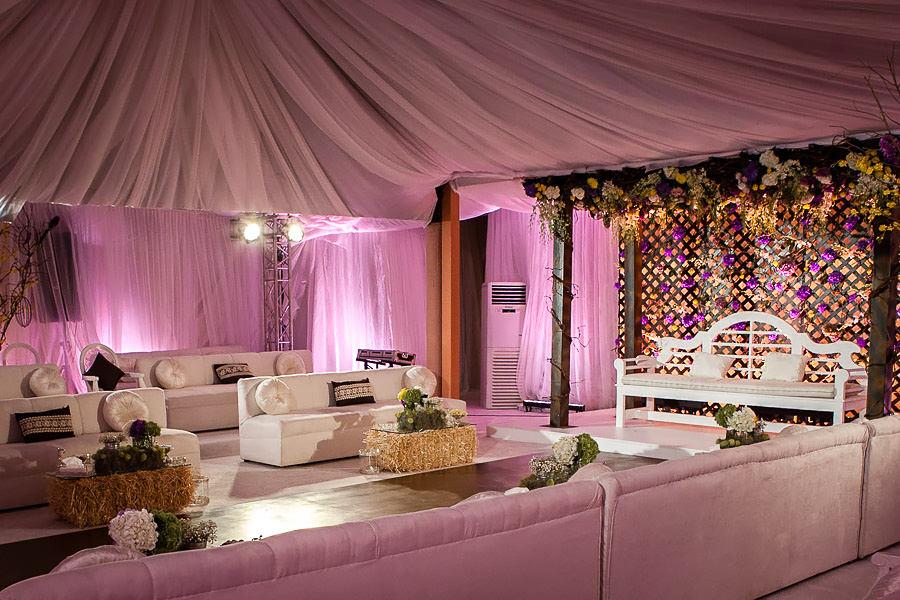 wedding setup in a tent in riyadh