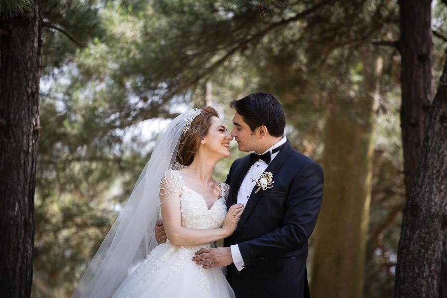 Bride and groom portrait in Tekirdag Turkey