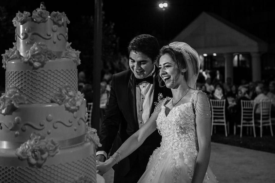cake cutting at wedding in tekirdag