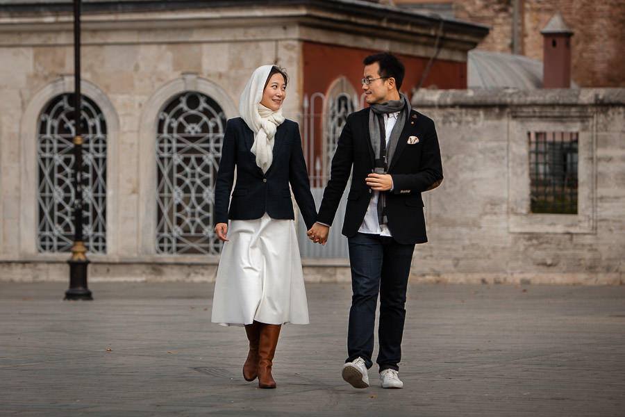 chinese couple in istanbul