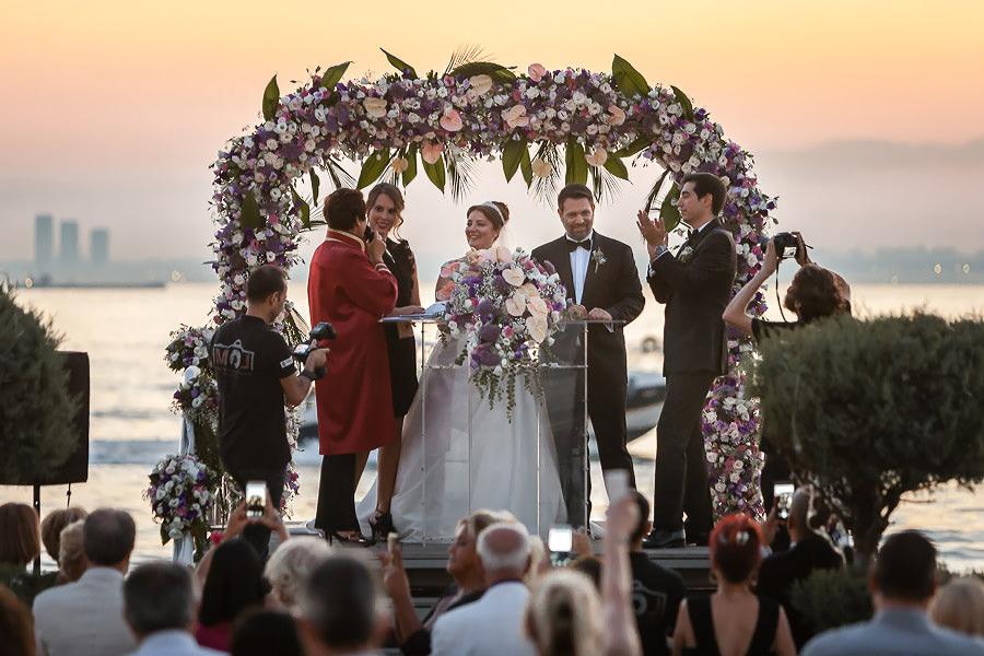 wedding ceremony by the sea in istanbul turkey