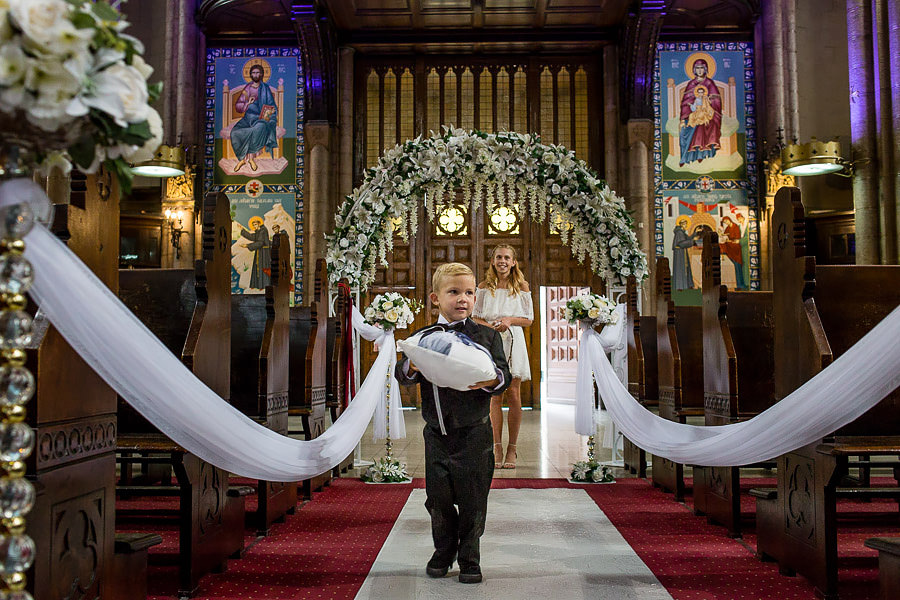 ring bearer at istanbul st. anthony of padua wedding