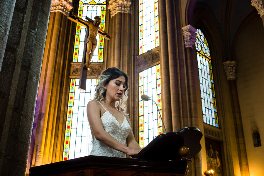 bride's speach at istanbul st. anthony of padua wedding