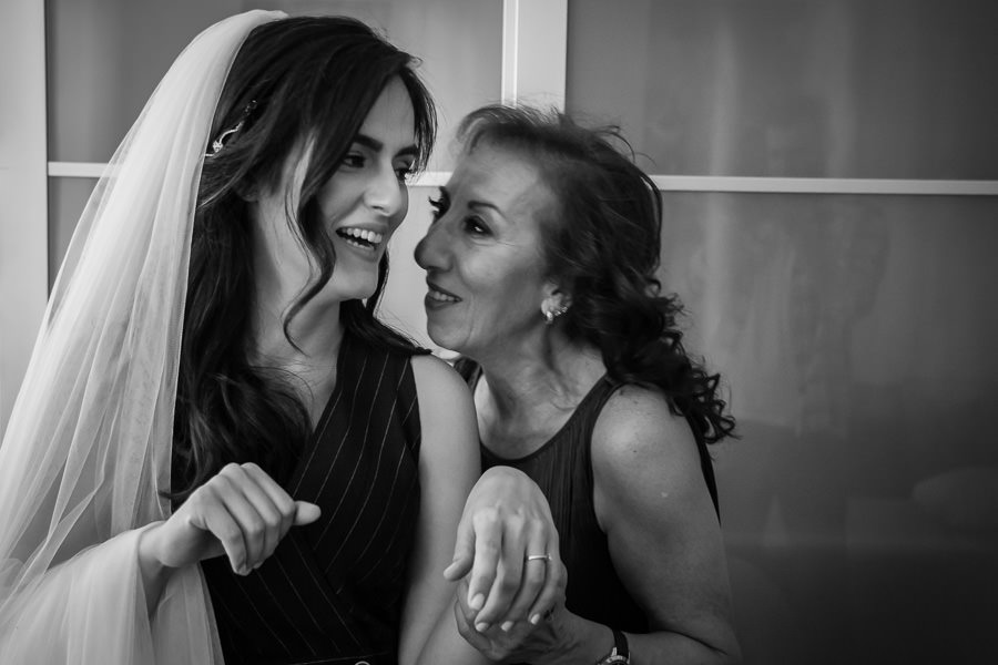 Bride and mother-in-law